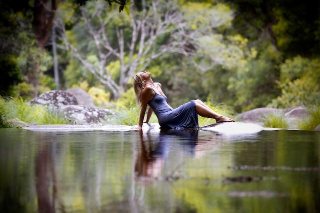 Woman In Water Tweed Valley Photo
